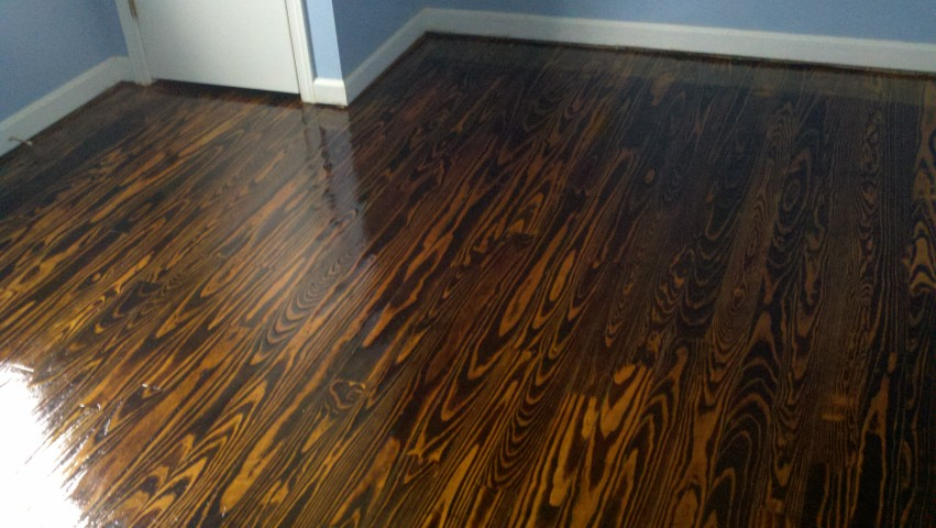 a completely refinished hardwood floor