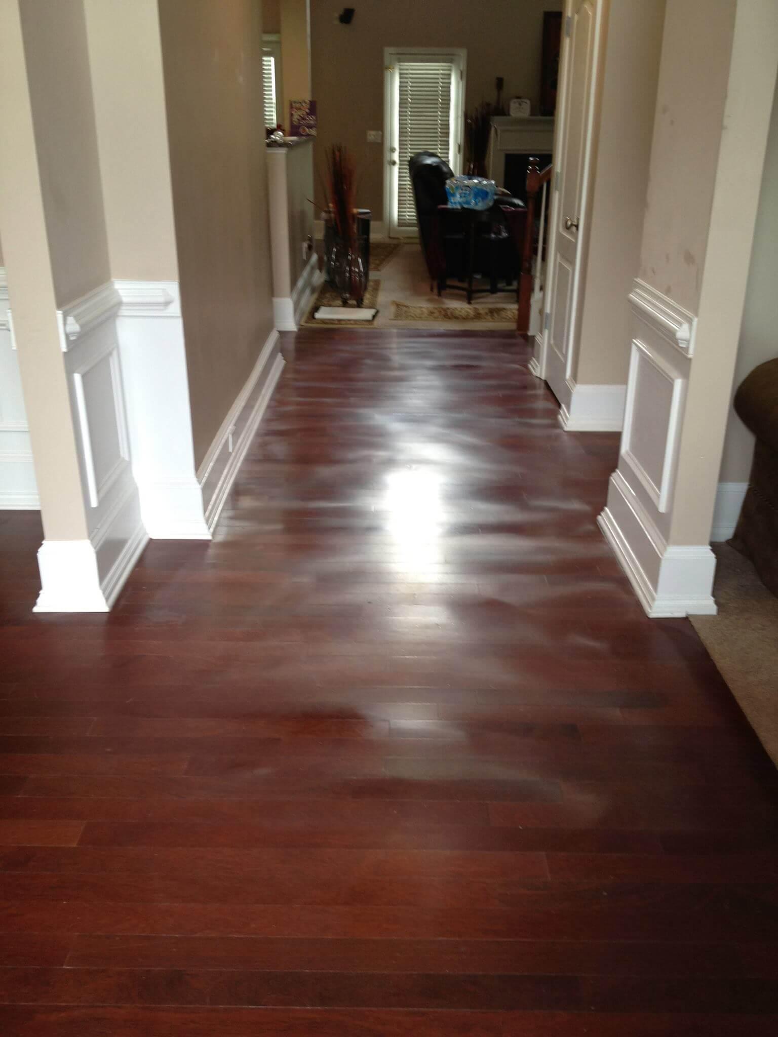 a warped hardwood floor