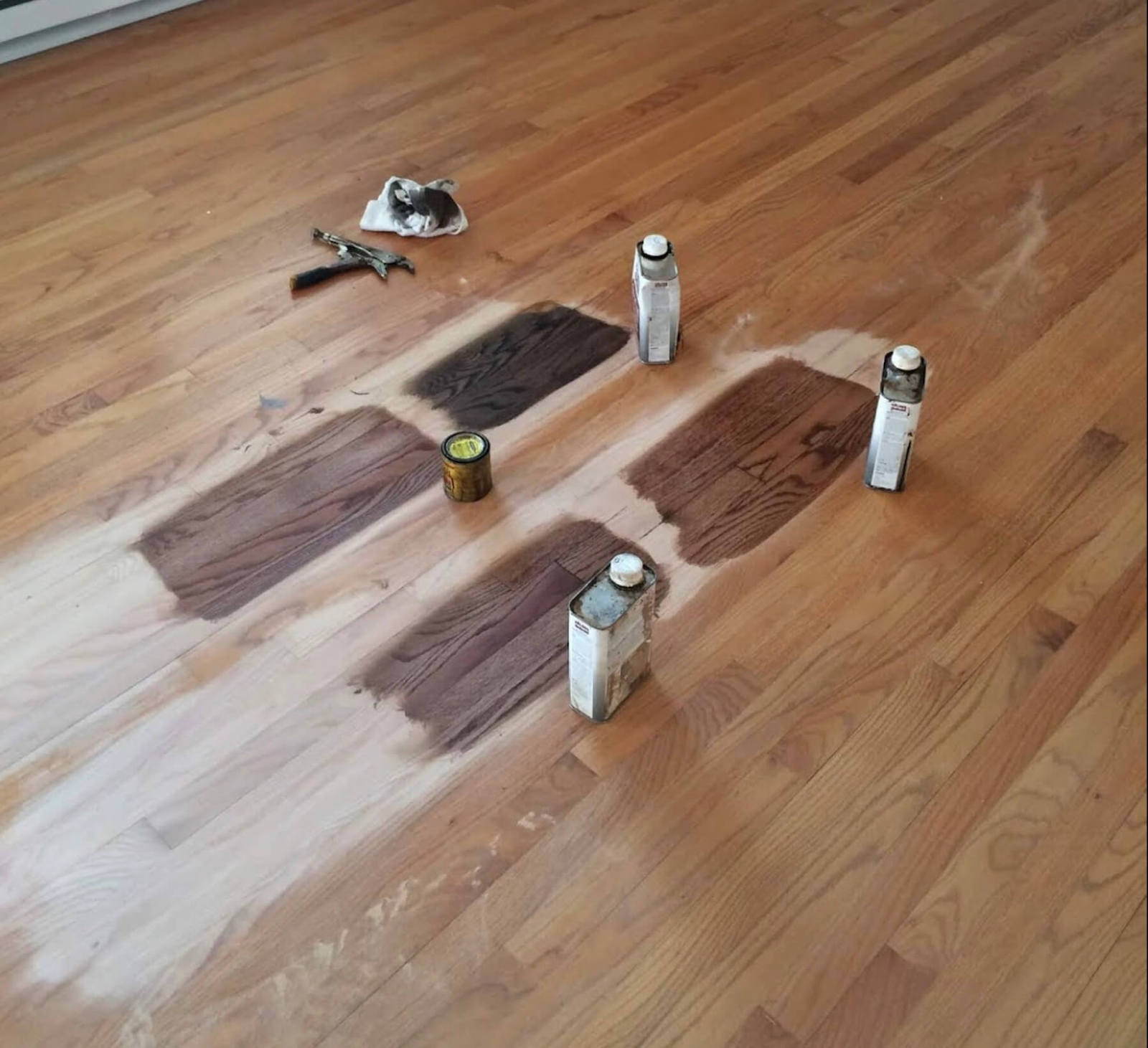 Hardwood floor staining in Chicago