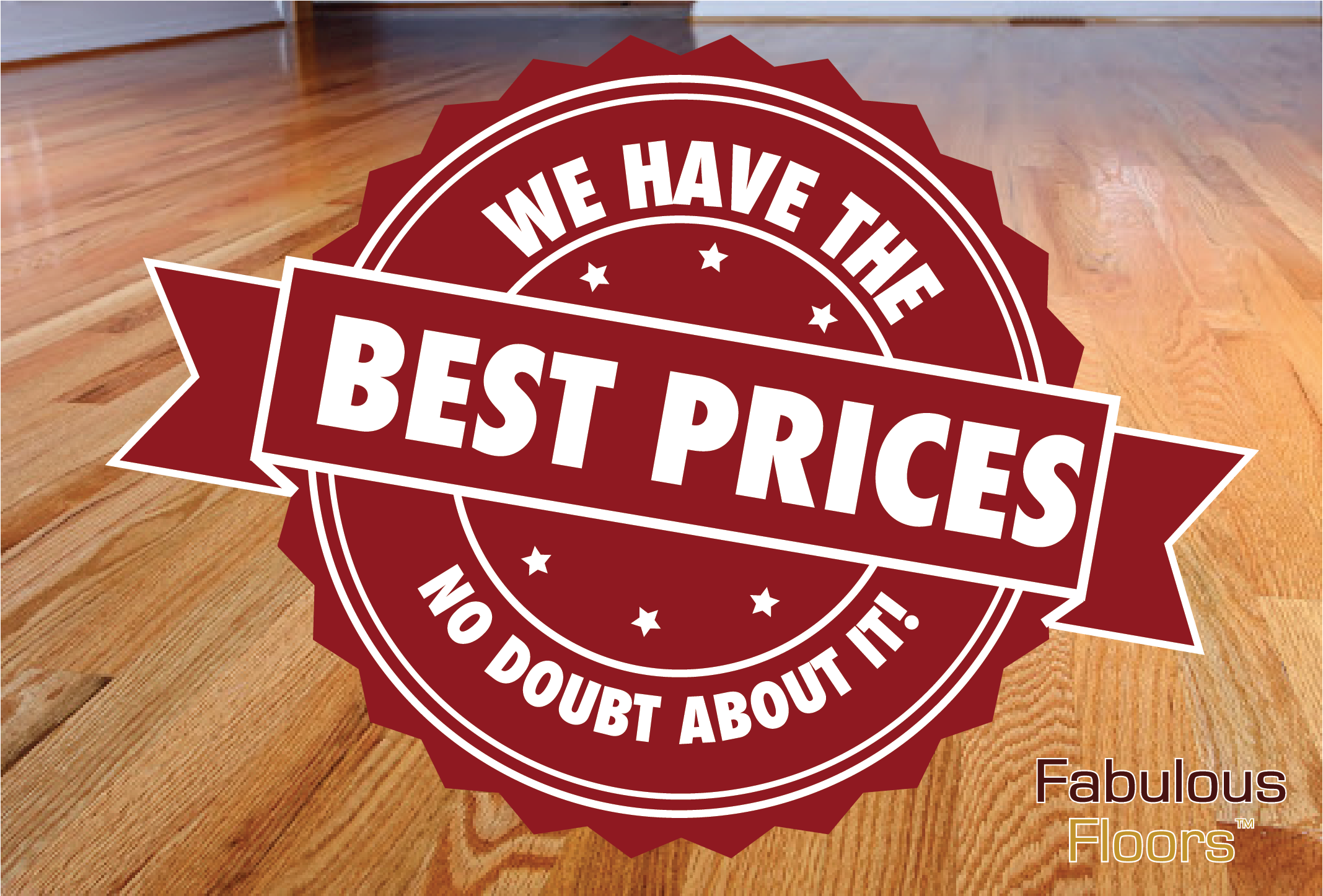 A graphic saying that we have the best prices, no doubt about it